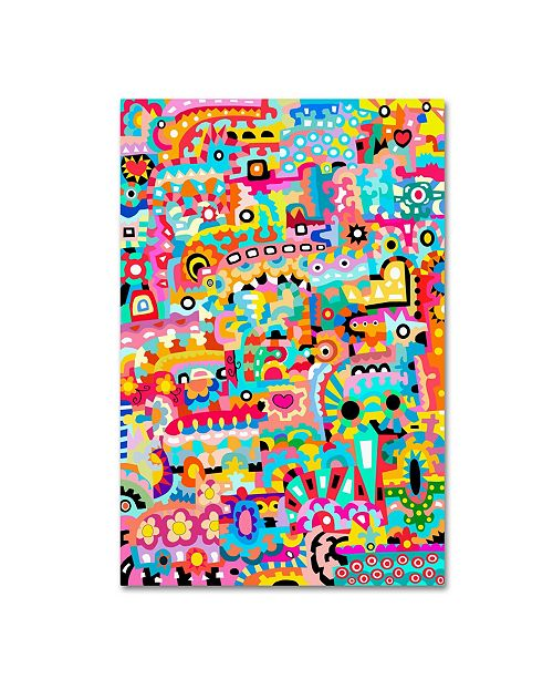 "Trademark Global Miguel Balbas 'Pattern Dogs 2' Canvas Art - 24"" x 16"" x 2"""
