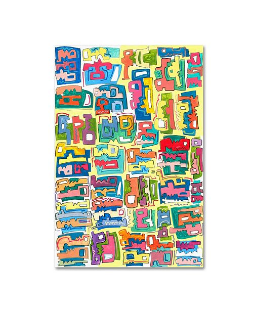 """Trademark Global Miguel Balbas 'Colorful Shapes 1' Canvas Art - 24"""" x 16"""" x 2"""""""