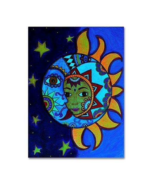"Trademark Global Prisarts 'La Luna El Sol Estrellado' Canvas Art - 19"" x 14"" x 2"""