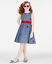 e945c29598b Rare Editions Big Girls Embroidered Cotton Fit   Flare Dress
