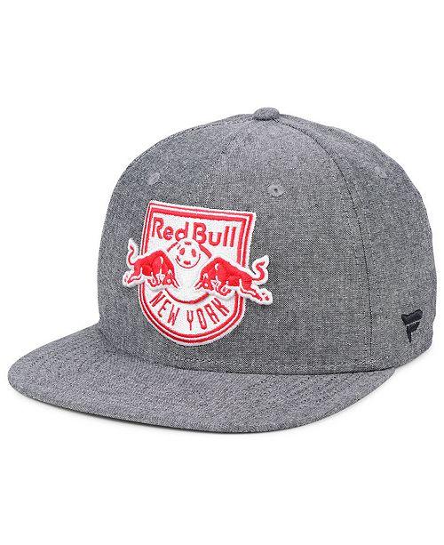 aab1c12251da5 ... Lids Authentic MLS Headwear New York Red Bulls Chambray Snapback Cap ...