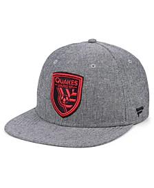 Authentic MLS Headwear San Jose Earthquakes Chambray Snapback Cap