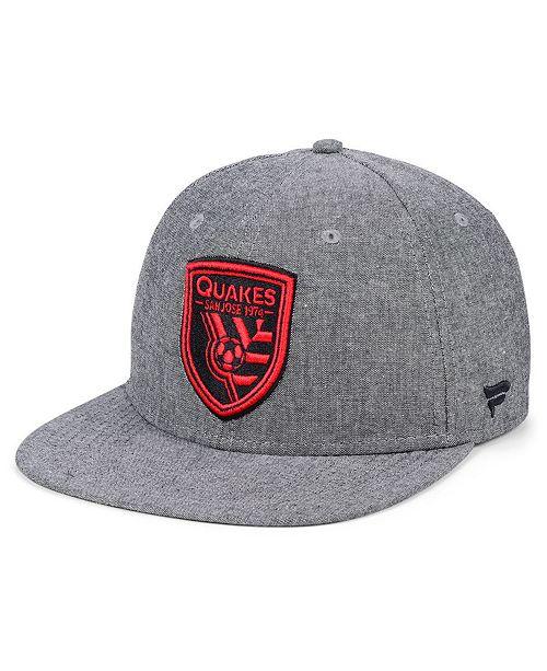 Lids Authentic MLS Headwear San Jose Earthquakes Chambray Snapback Cap