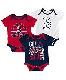 Outerstuff Baby Boston Red Sox Newest Rookie 3 Piece Bodysuit Set