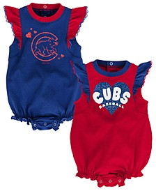 Baby Chicago Cubs Double Trouble Bodysuit Set