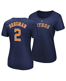 Majestic Women's Alex Bregman Houston Astros Crew Player T-Shirt