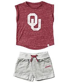 Oklahoma Sooners Cuffed T-Shirt and Short Set