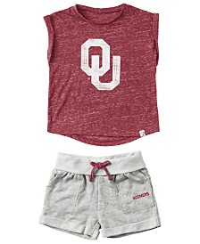 ColosseumBaby Oklahoma Sooners Cuffed T-Shirt and Short Set