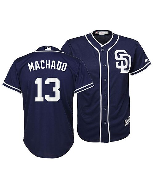 Majestic Big Boys Manny Machado San Diego Padres Player Replica Cool Base Jersey