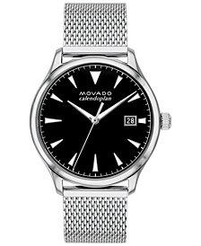 Movado Men's Swiss Heritage Stainless Steel Mesh Bracelet Watch 40mm