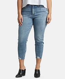 Silver Jeans Co. Trendy Plus Size Calley Skinny Cropped Jeans