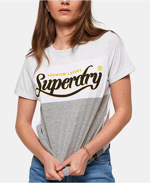 Superdry Cotton Colorblocked Graphic T-Shirt