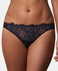 Women's Entice Eyelash Lace Trim Thong 371143