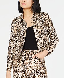 I.N.C. Leopard-Print Jacket, Created for Macy's