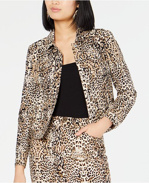INC International Concepts I.N.C. Leopard-Print Jacket, Created for Macy's
