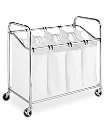 4-Section Rolling Laundry Sorter