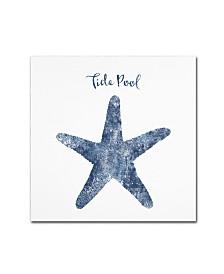 """Tina Lavoie 'Starfish Tide Pool' Canvas Art - 14"""" x 14"""" x 2"""""""