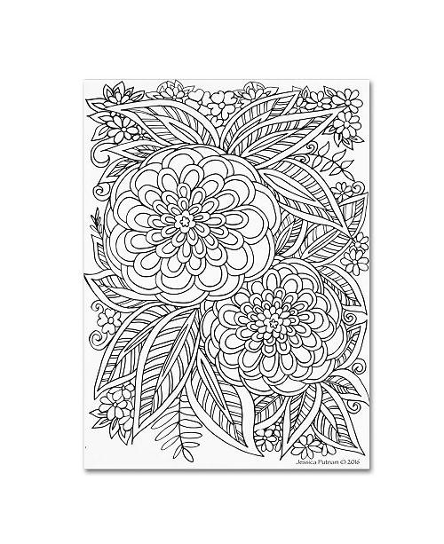 "Trademark Global Jessica Putnam 'Floral 40' Canvas Art - 19"" x 14"" x 2"""