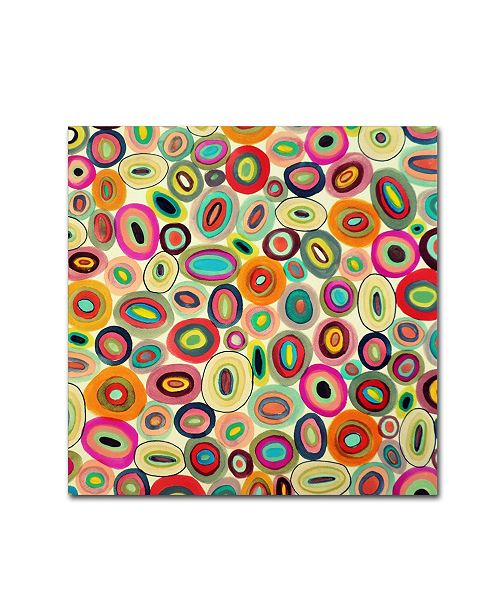 "Trademark Global Sylvie Demers 'Running In Circles' Canvas Art - 24"" x 24"" x 2"""
