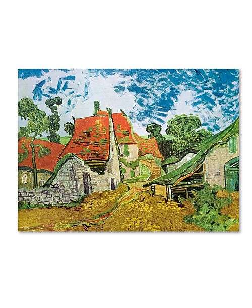 "Trademark Global Vincent van Gogh 'Village Street in Auvers' Canvas Art - 32"" x 24"" x 2"""