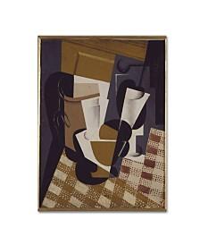 "Juan Gris 'Wine Jug And Glass' Canvas Art - 32"" x 24"" x 2"""