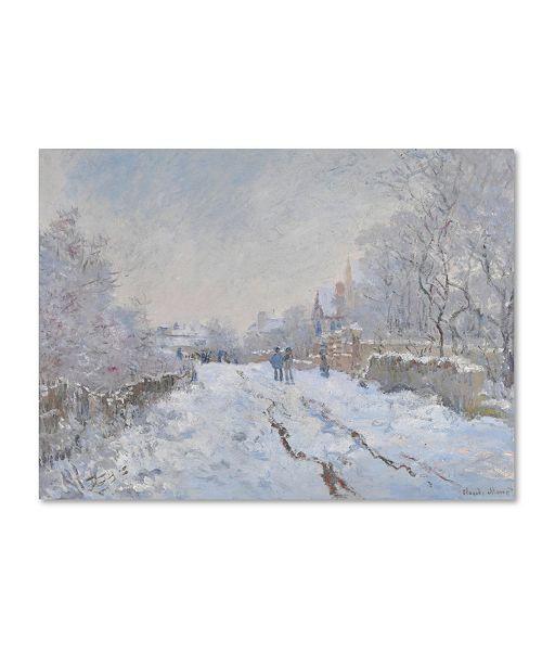 """Trademark Global Monet 'Snow At Argenteuil' Canvas Art - 32"""" x 24"""" x 2"""""""