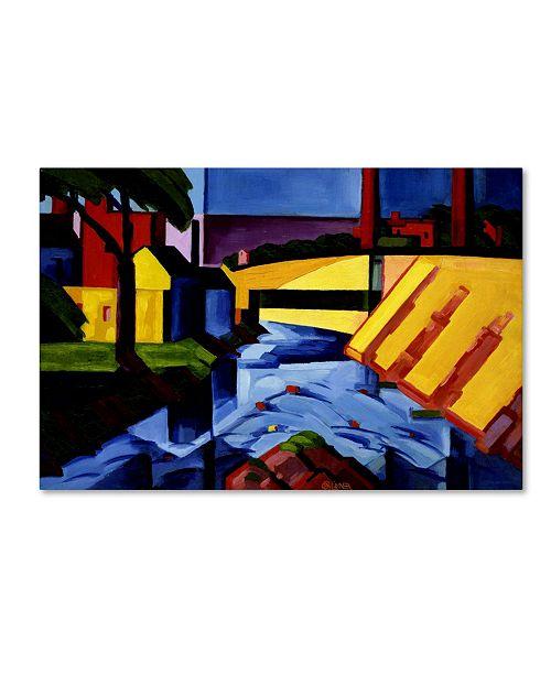 "Trademark Global Oscar Bluemner 'Evening Tones' Canvas Art - 32"" x 22"" x 2"""