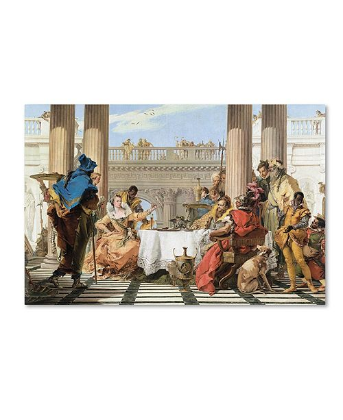 """Trademark Global Tiepolo 'The Banquet Of Cleopatra' Canvas Art - 32"""" x 22"""" x 2"""""""