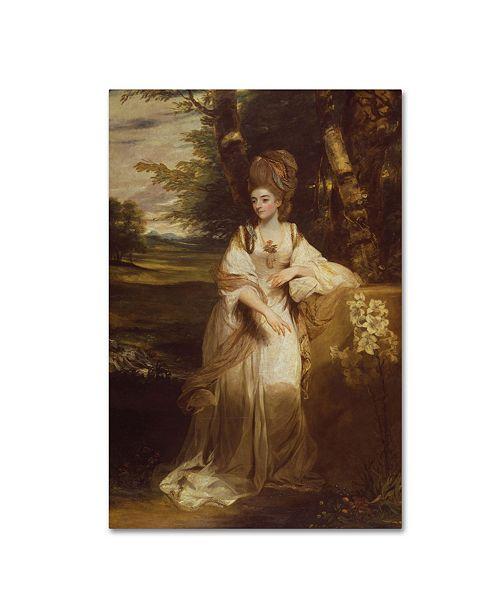 "Trademark Global Sir Joshua Reynolds 'Lady Bampfylde' Canvas Art - 32"" x 22"" x 2"""
