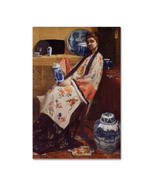 """Trademark Global Whistler 'Purple And Rose' Canvas Art - 32"""" x 22"""" x 2"""""""