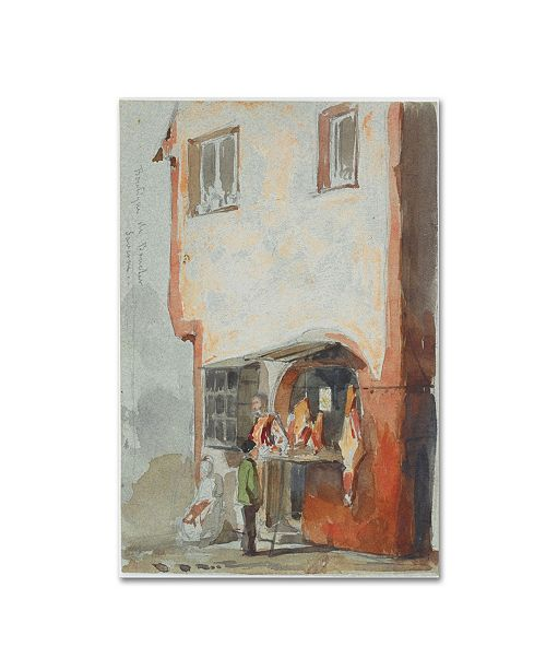 "Trademark Global Whistler 'The Butcher Shop' Canvas Art - 19"" x 12"" x 2"""