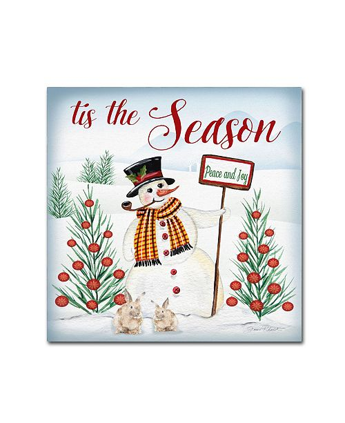 "Trademark Global Jean Plout 'Tis The Season' Canvas Art - 35"" x 35"" x 2"""