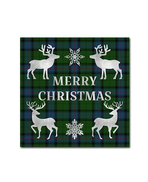 "Trademark Global Jean Plout 'Merry Christmas Plaid 5' Canvas Art - 18"" x 18"" x 2"""