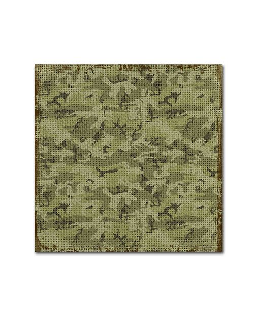 "Trademark Global Jean Plout 'Bear Crossing Camouflage' Canvas Art - 24"" x 24"" x 2"""