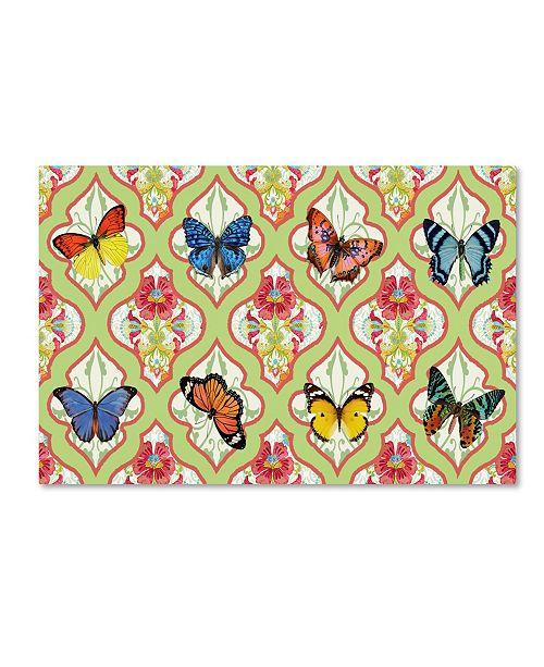 "Trademark Global Jean Plout 'Butterflies In The Garden 1' Canvas Art - 24"" x 16"" x 2"""