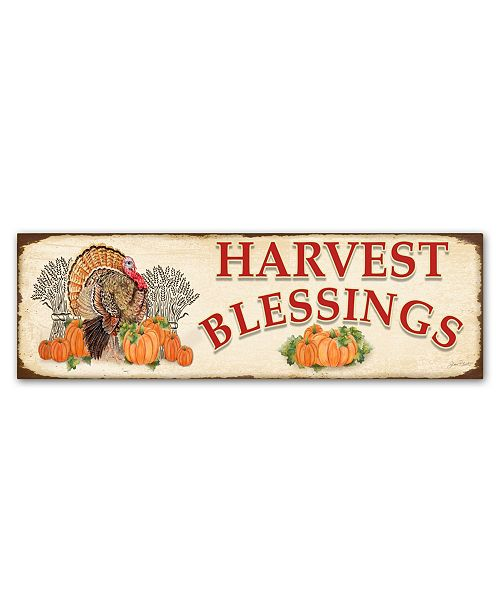 "Trademark Global Jean Plout 'Thanksgiving 3' Canvas Art - 10"" x 32"" x 2"""