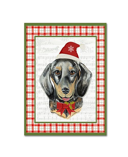 "Trademark Global Jean Plout 'Christmas Song Dogs 4' Canvas Art - 32"" x 24"" x 2"""