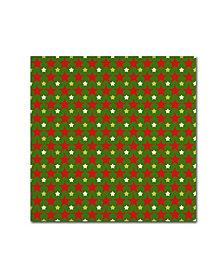 "Jean Plout 'Ugly Christmas Sweater Santa 7' Canvas Art - 24"" x 24"" x 2"""