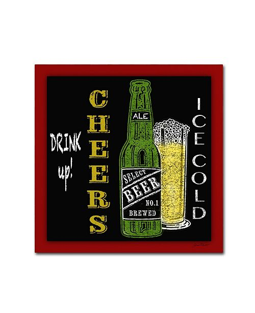 "Trademark Global Jean Plout 'Beer 3' Canvas Art - 14"" x 14"" x 2"""