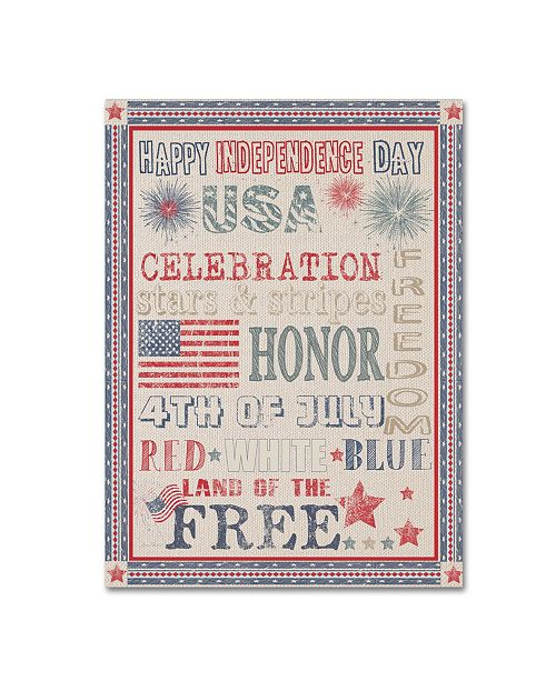 """Trademark Global Jean Plout 'Happy 4Th 4' Canvas Art - 32"""" x 24"""" x 2"""""""