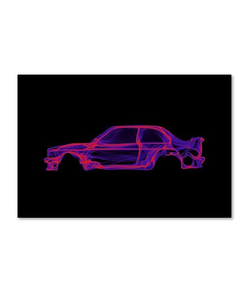 """Trademark Innovations Octavian Mielu 'BMW M3 E30' Canvas Art - 24"""" x 16"""" x 2"""""""