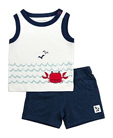 Mac and Moon 2-Piece Graphic Tank Top and Shorts Set