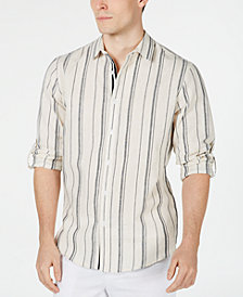 I.N.C. Men's Francis Striped Button-Down Shirt, Created for Macy's