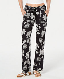 Roxy Juniors' Floral Printed Soft Pants
