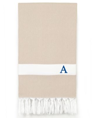 Personalized Diamond Pestemal Soft Aqua Beach Towel