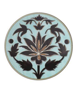 Global Tapestry Aquamarine Lotus Accent/Salad Plate