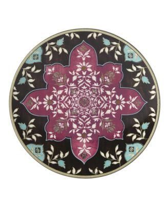 Global Tapesetry Garnet  Mandala Accent/Salad Plate