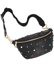 Steve Madden Rhinestone Sparkle Belt Bag
