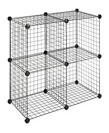 Whitmor Set of 4 Storage Cubes
