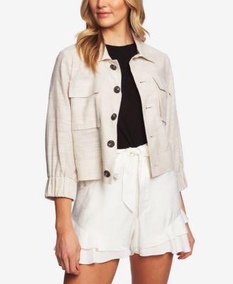 Cropped 3/4-Sleeve Jacket